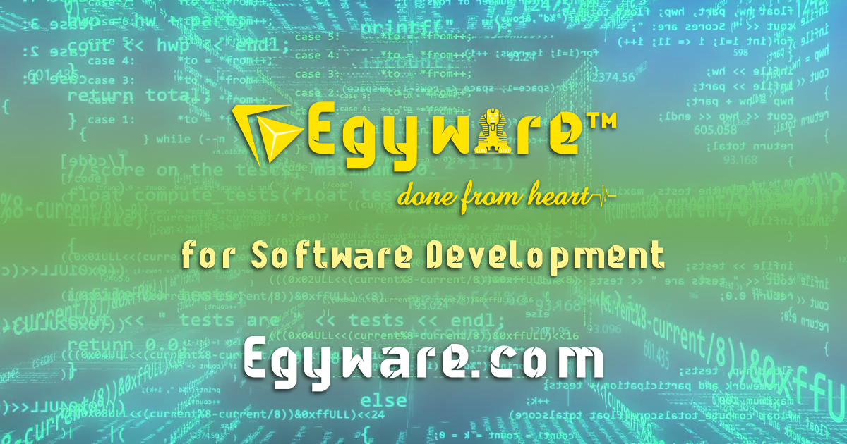 Egyware CRM cPanel- Products done from heart - Add your unit